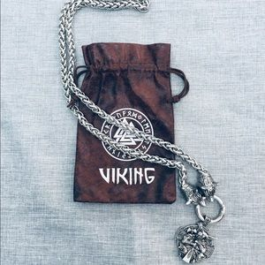Other - Men's Viking Wolf Head Necklace